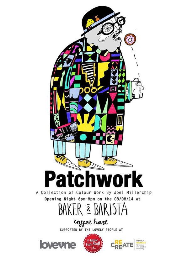 Interview with Mr Millerchip ahead of PATCHWORK @ Baker & Barista, Ipswich, from August 8!