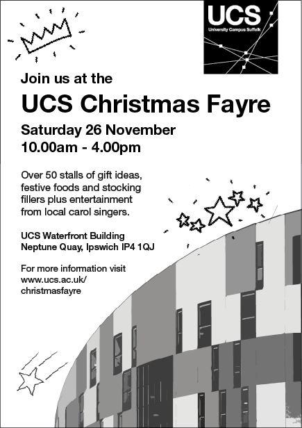 UCS Christmas Fayre - Waterfront Building, Saturday 26th November