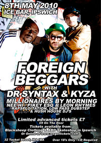 *REVIEW* Foreign Beggars - Ice Bar - 8th May