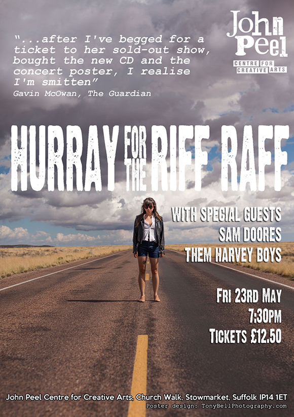 Hurray for the Riff Raff @ the John Peel Centre, Stowmarket, May 23!