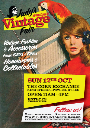 Judy's Affordable Vintage Fair Returns to Ipswich!!
