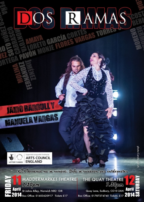 Renowned flamenco dancers Jairo Barrull and Manuela Vargas to present Dos Ramas across East Anglia
