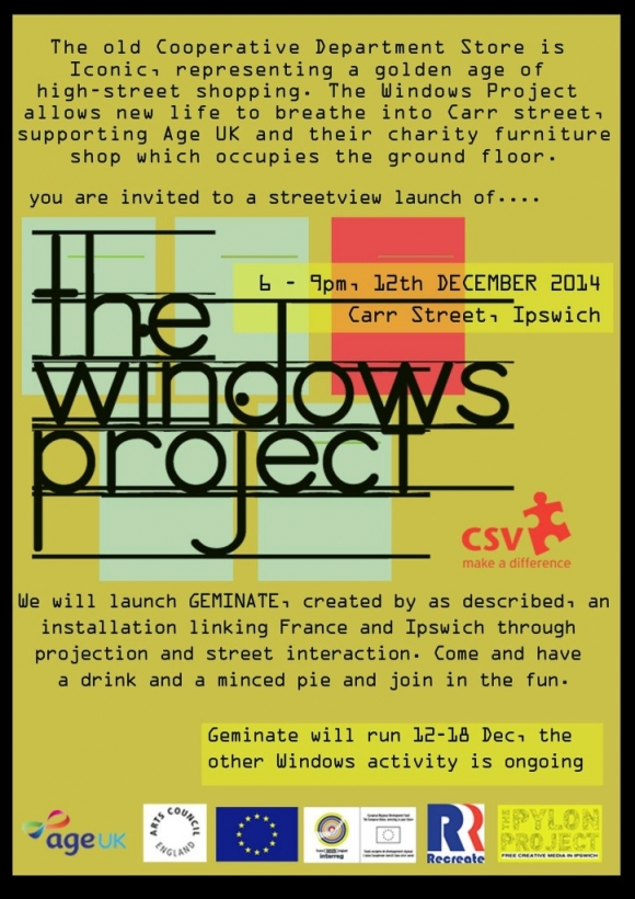 THE WINDOWS PROJECT 12th DECEMBER 6-9PM
