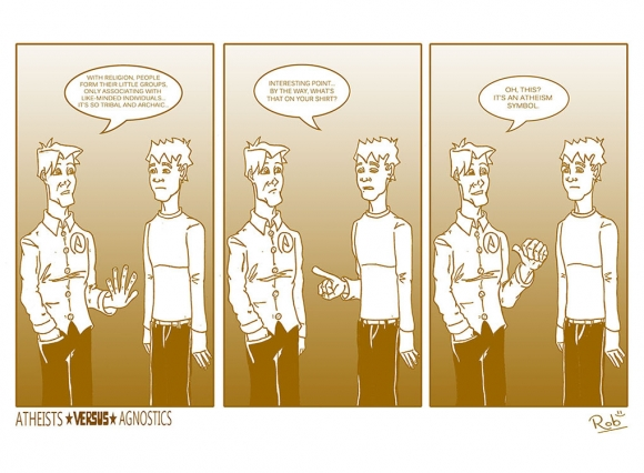 Atheists Versus Agnostics Comic Strip 2