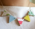 Candy Colours Bunting Necklace