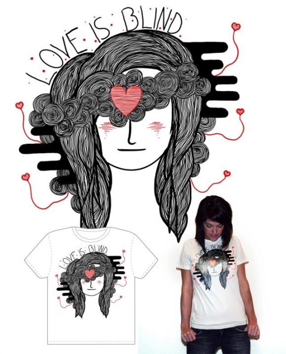 Love is Blind tee design