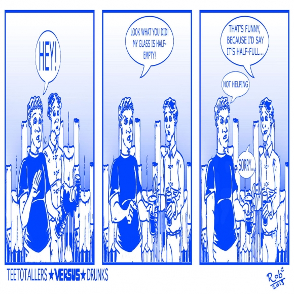 Teetotallers Versus Drunks Comic Strip 2