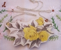 Yellow Rose Garland Brooch